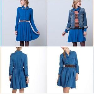 Maeve [Anthro] Versatile Dakota Shirtdress in blue